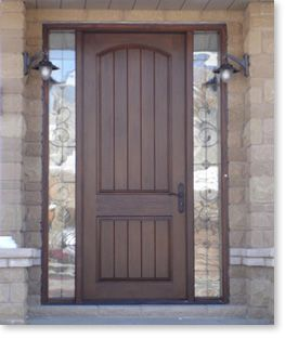 Wood Front Doors With Sidelights Fiberglass Entry Doors