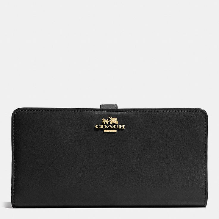 MADISON SKINNY WALLET IN LEATHER