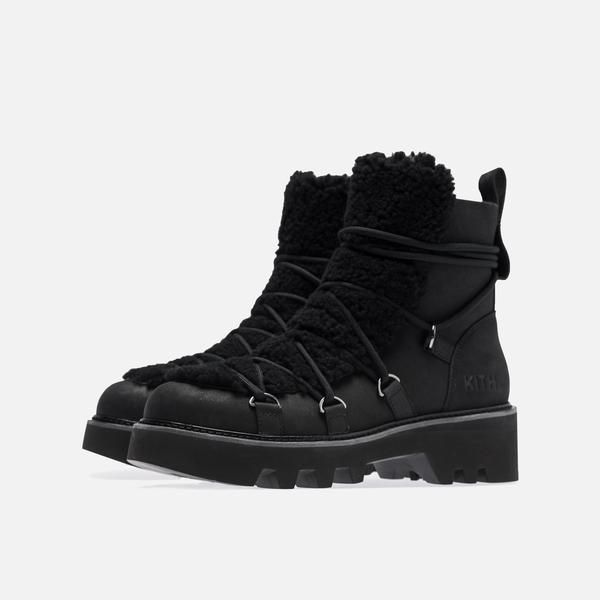 177b635b662 Kith Women x Ugg Combat Boot - Black | Shoes | Black boots, Boots ...