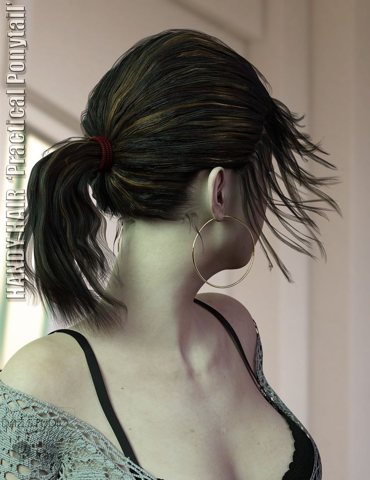Handy Hair Practical Ponytail for Genesis 3 & 8 Female(s) | 3D Models and 3D Software by Daz 3D