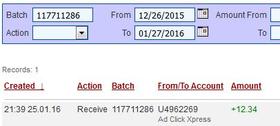"""I am getting paid daily at ACX and here is proof of my latest withdrawal. This is not a scam and I love making money online with Ad Click Xpress http://www.adclickxpress.com/?"