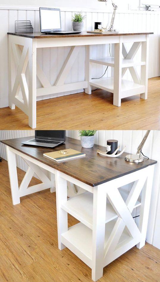 Best 25 desk plans ideas on pinterest build a desk for Cheap desk ideas