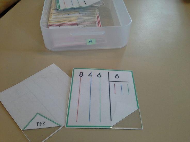 Atelier division posée - Loustics - ma classe de cycle 3
