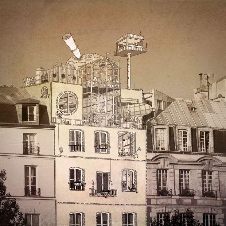 Transformer le banal de photos prises à partir d'un Iphone en un monde féérique peuplé de de toute une cosmologie imaginaire, c'est le travail que fournit, Johan Thörnqvist, suedois de son état. Et c'est juste joli.