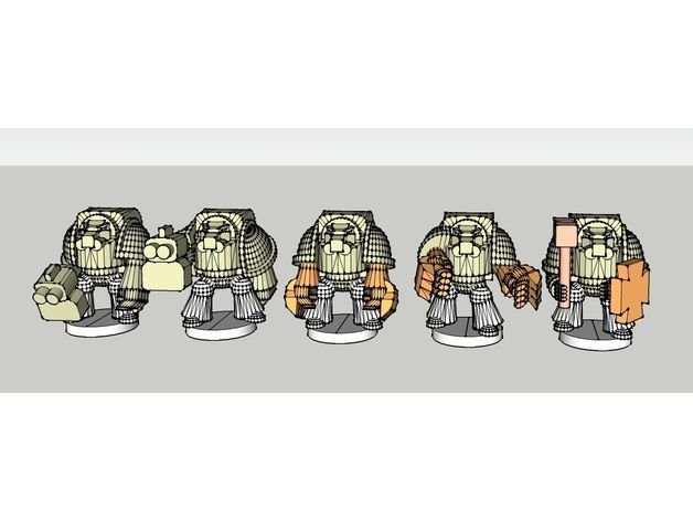 Epic Scale Astartes Terminator Proxy - low poly by chris262