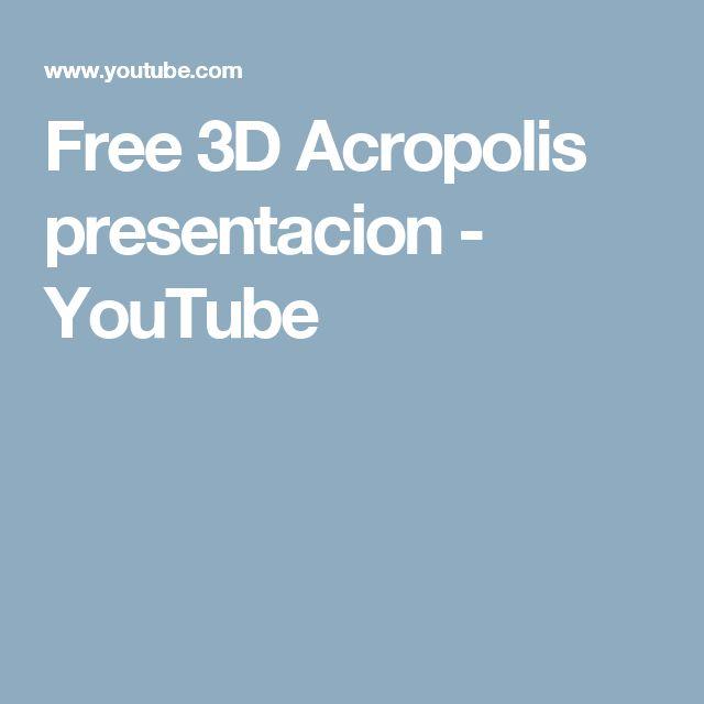 Free 3D Acropolis presentacion - YouTube