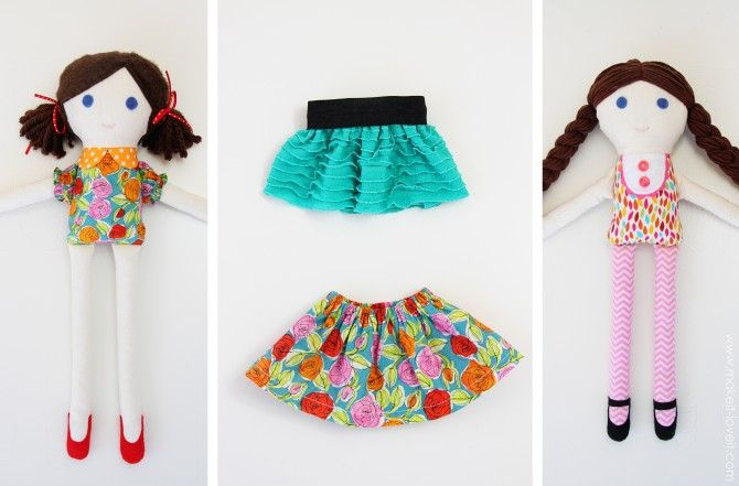 Free Felt Doll Patterns   Girl & Boy FABRIC DOLLS (pattern pieces included)   Make It and Love ...