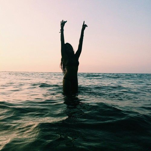 Most popular tags for this image include: beach, girl, summer, ocean and sea