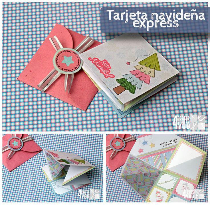Tarjeta express navide a express christmas card mis - Manualidades tarjeta navidena ...