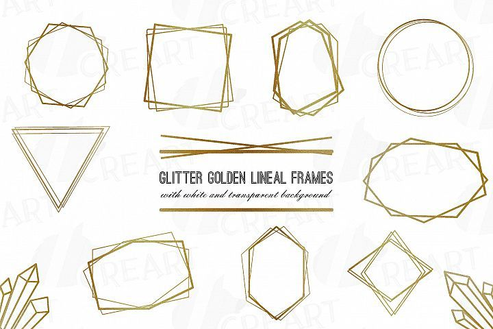 Glitter Golden Elegant Wedding Geometric Frames Png 209981 Illustrations Design Bundles Monograma