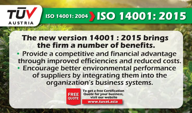 ISO 14001:2015 Certification. Environmental Management System. For further information visit: tuvat.asia/get-a-quote or call Pakistan: +92 (42) 111-284-284 | Bangladesh +880 (2) 8836404 to speak with a representative. #ISO #TUV #certification #inspection #pakistan #iso14001 #bangladesh #lahore #karachi #dhaka
