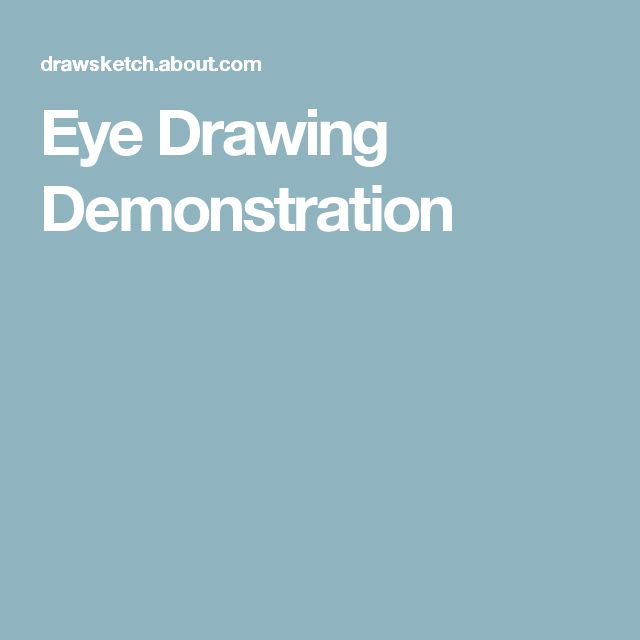 Eye Drawing Demonstration