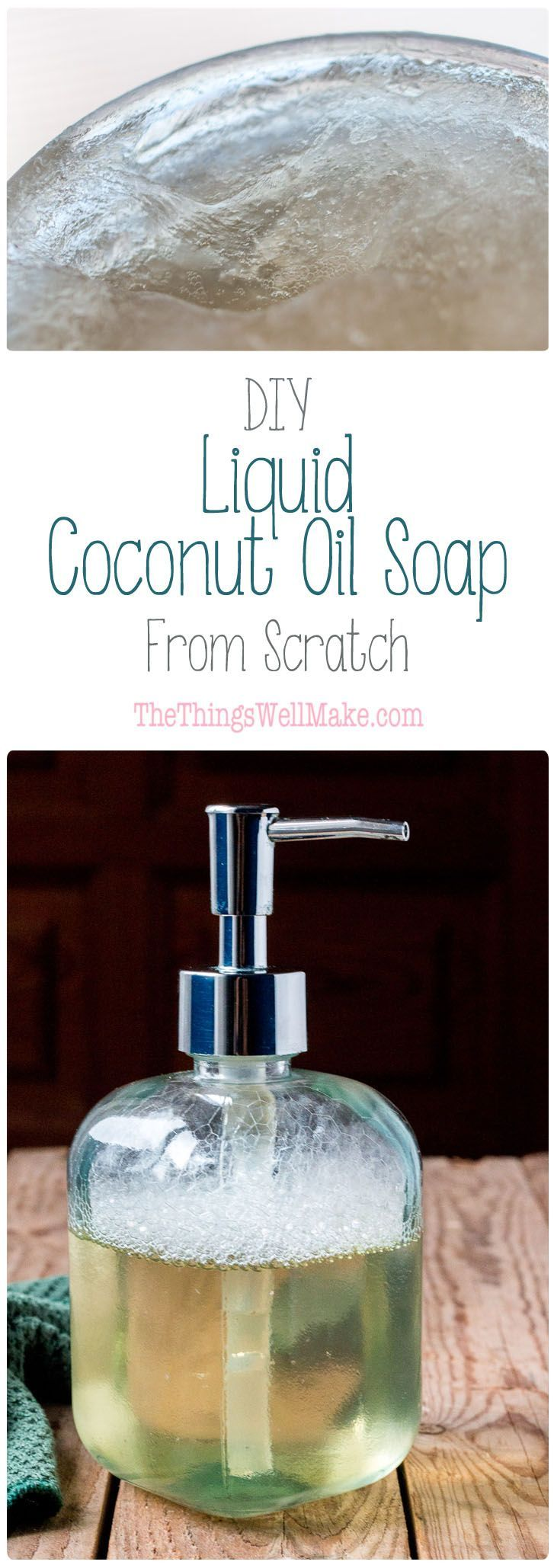 Making your own homemade liquid coconut oil soap is simple, thrifty, and very rewarding. Coconut oil soap provides lots of lather and cleaning power for all purpose cleaning.                                                                                                                                                                                 More