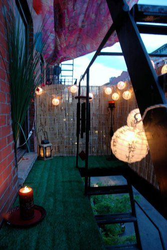 Outdoor Small Cool Contest from Apartment Therapy - you can turn your fire escape into a balcony!