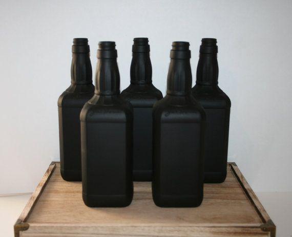 Jack Daniels Chalkboard Centerpiece Bottles by ChalkboardChique