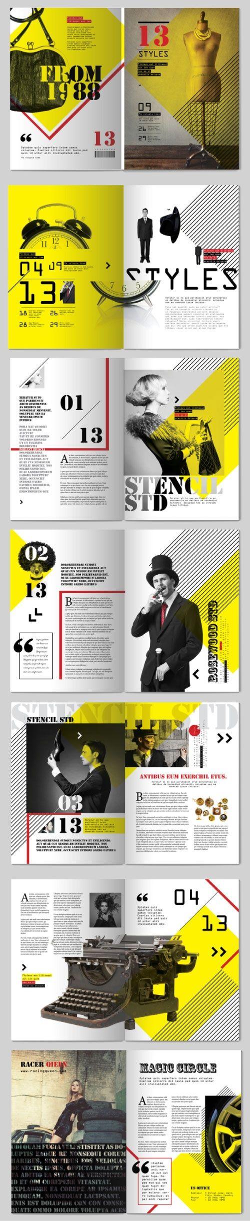 13 Styles Magazine Design || Tony Huynh #publication
