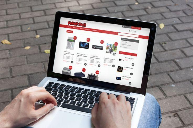 Κατασκευή e-shop Powertech eshop desktop design
