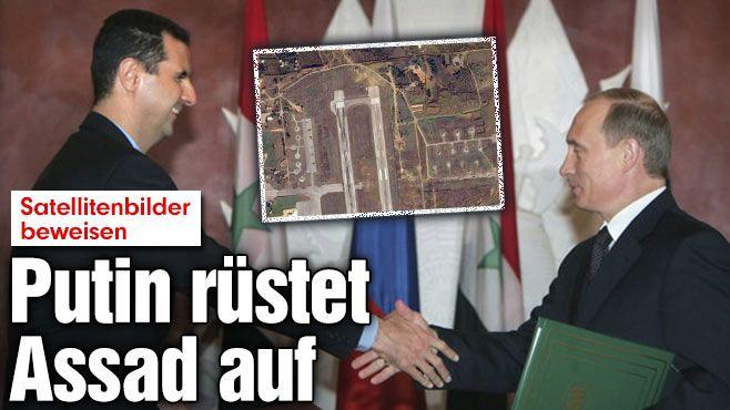 """Putin verkündet: """"Wir unterstützen die Regierung in Syrien."""" http://www.bild.de/politik/ausland/syrien-krise/putin-syrien-einsatz-42587024.bild.html"""