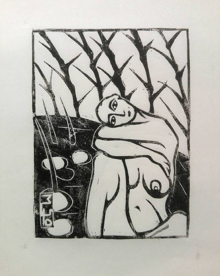 """Mi piace"": 2, commenti: 1 - Marcello (@meo_graf) su Instagram: ""Amy by the Pond #linoprint  on #washi paper. #linocut  #linoleum"""