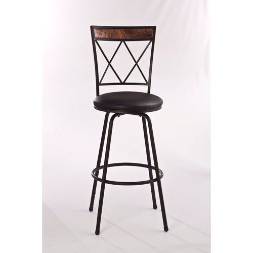 Howard Black Metal Adjustable Bar Stool