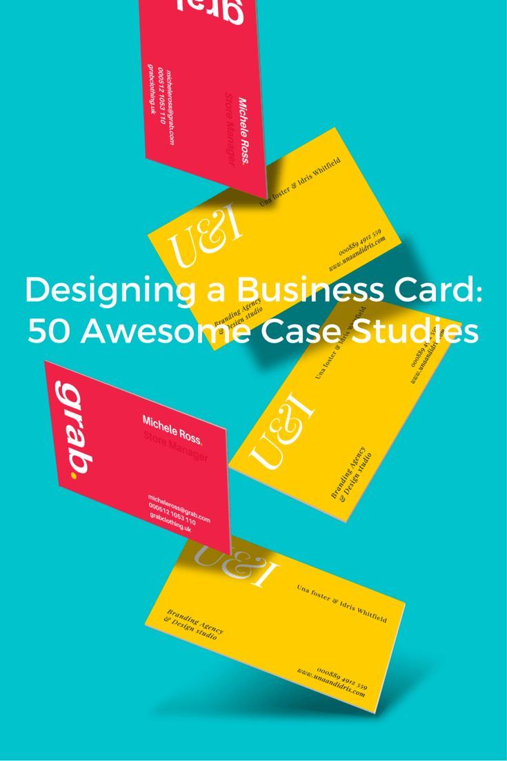 Designing a Business Card: 50 Awesome Case Studies (And What You Can Learn From Them)