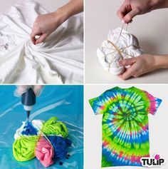 Who wants to tie dye with us? We'll show you the spiral technique using the Tulip One-Step Tie-Dye! http://www.ilovetocreate.com/techniquesteps.aspx?t=5f0219e9-b91d-48d3-8c1e-d6b847702c67
