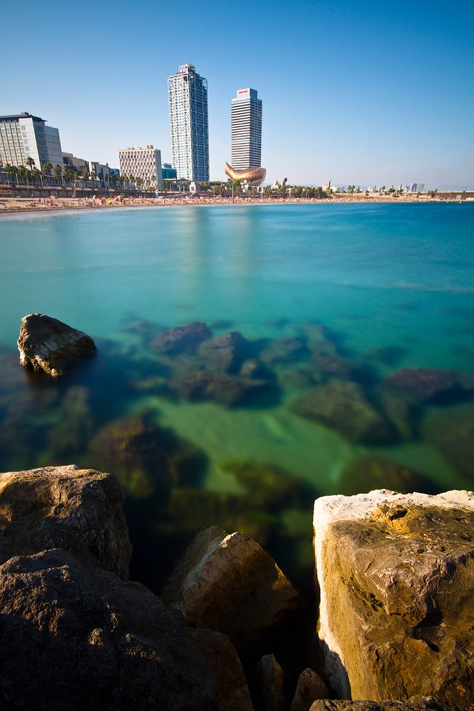 Barcelona - Platja De La Barceloneta // The water was deliciously cool this morning (August 21)