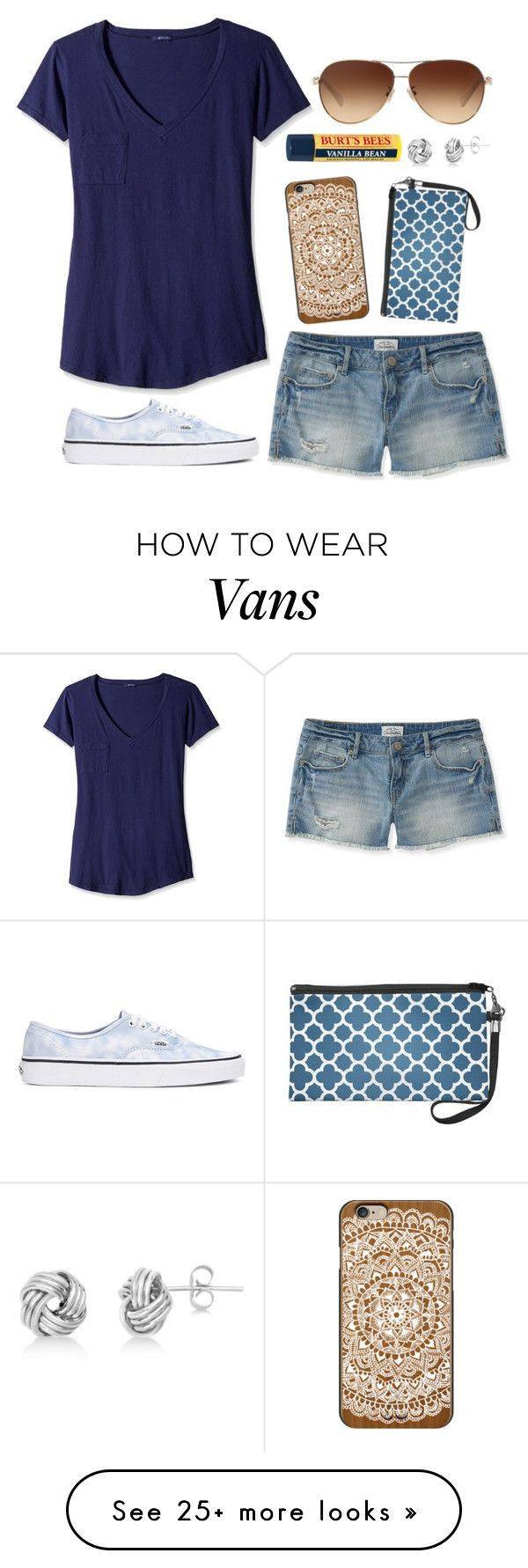 """""""Casual Outfit"""" by twaayy on Polyvore featuring LAmade, Aéropostale, Vans, Casetify, Coach, Allurez and Burt's Bees"""