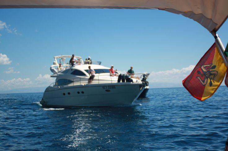 AICON 56 cruising in #Taormina #Luxury #Sicily