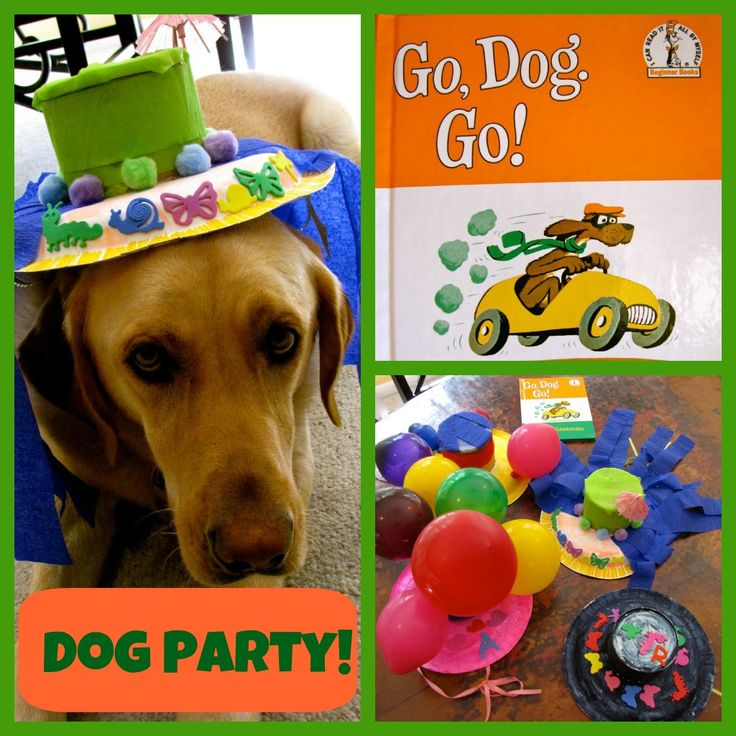 It's a Go, Dog, Go! dog party. Read the book, make hats, pretend to be dancing dogs, dance with your actual dog and more.