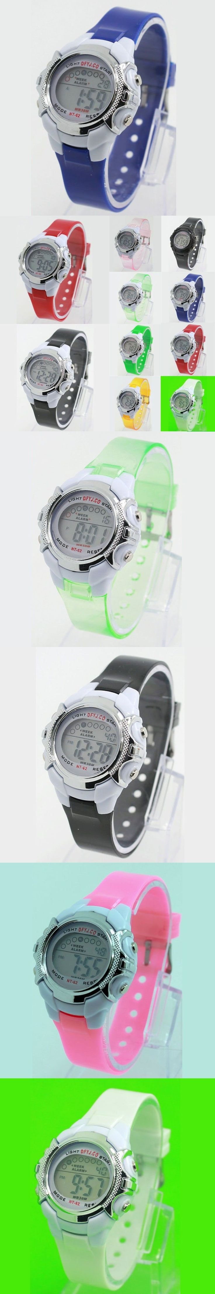 Tooptoot Relojes mujer 2016 Watch Girl Boy Alarm Date Digital Watches Multifunction Sport LED Light Kids Student Wristwatch
