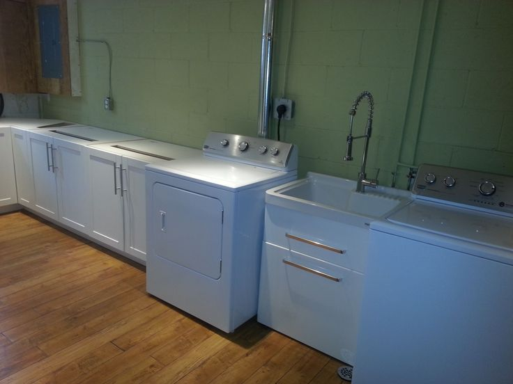 New washer, dryer and basin installed.