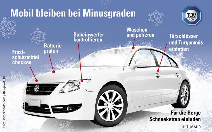 TÜV SÜD: Mobil bleiben bei Minusgraden Technikcheck Winter