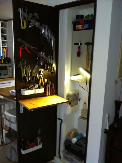 Online Room Designer Tool: Organize Your Tools On The Back Of A Door Using Magnetic