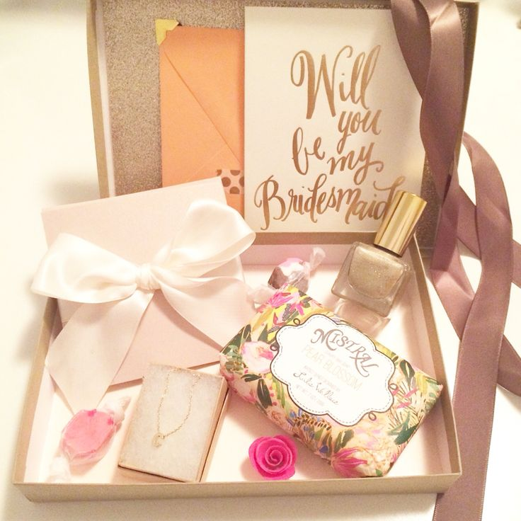 Bridesmaid box Claudette Marie Events