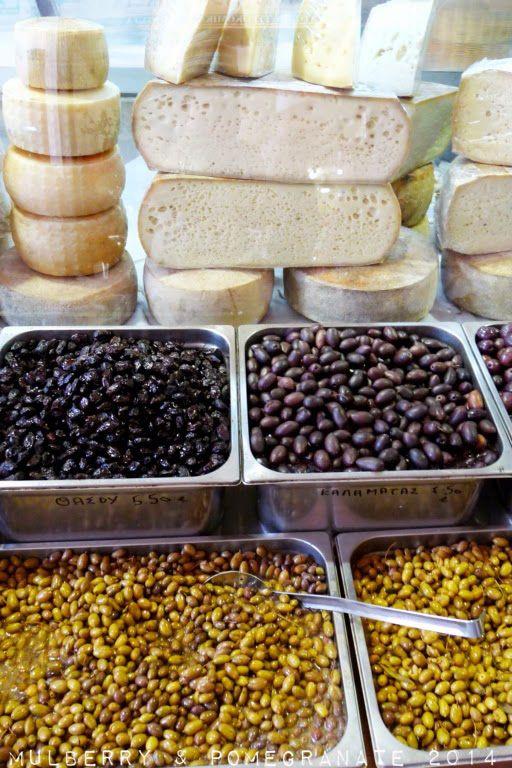 Cheese + Olives - Hania Municipal Market, Crete, Greece