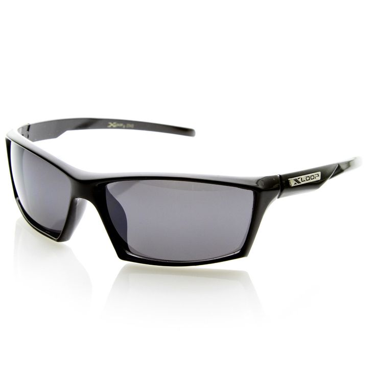 X-Loop Brand Eyewear Two-Tone Modified Square Frame XLoop Sports Sunglasses