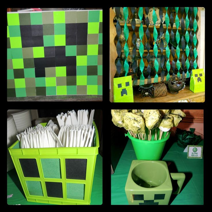 Kids and deals a minecraft birthday party decoration for 9th class decoration