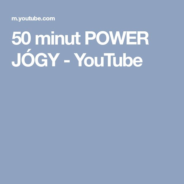 50 minut POWER JÓGY - YouTube