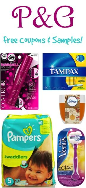 P&G FREE Coupons and Samples!