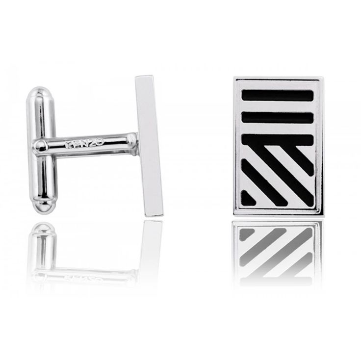 Men stainless steel Duts and stripes cufflinks - Kenzo