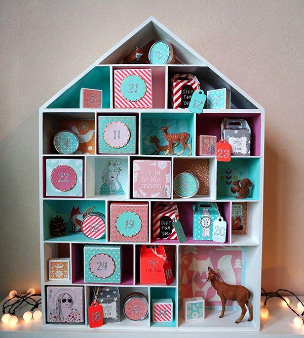 Calendrier de l'Avent - Maison à casiers, Papiers Kesi'art, Hema, Toga, Maison et boîtes Cultura
