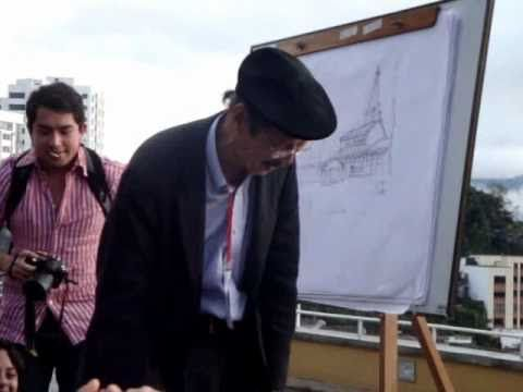 Francis DK Ching Spontaneous Drawing Lesson - YouTube