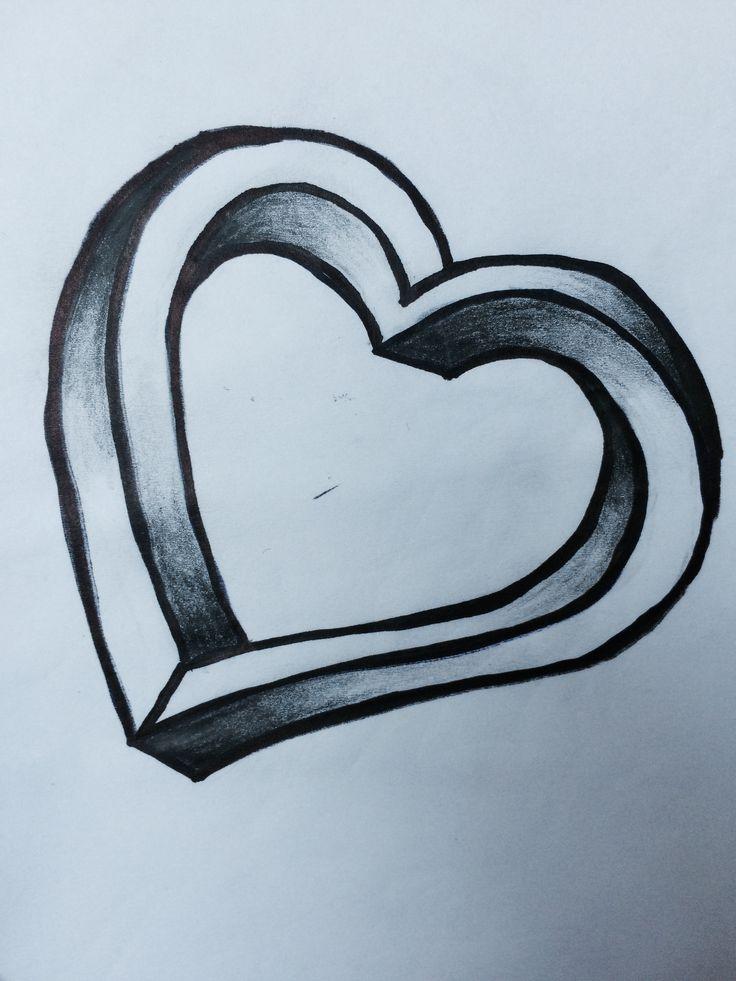 #draw #drawing #art  #blackandwhite #heart #drawingheart I LOVE DRAWING 🎨😊