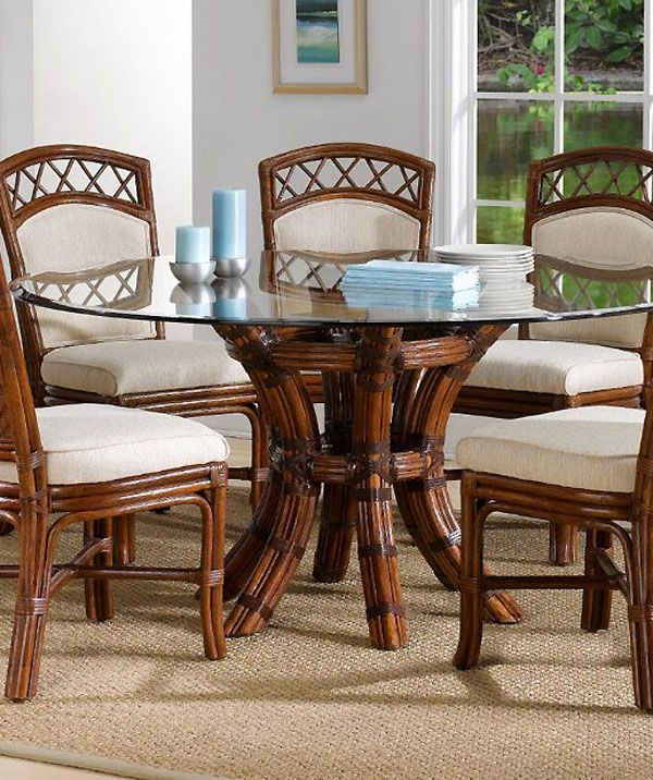 Saint Croix Dining Table With 54 Inch Round Glass From Classic