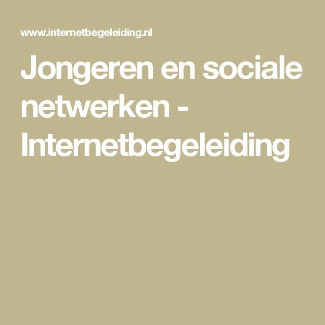 Jongeren en sociale netwerken - Internetbegeleiding