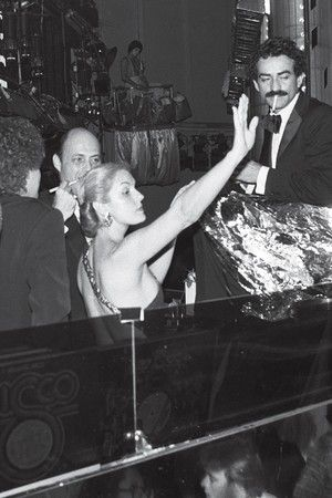 Carolina Herrera at Studio 54.