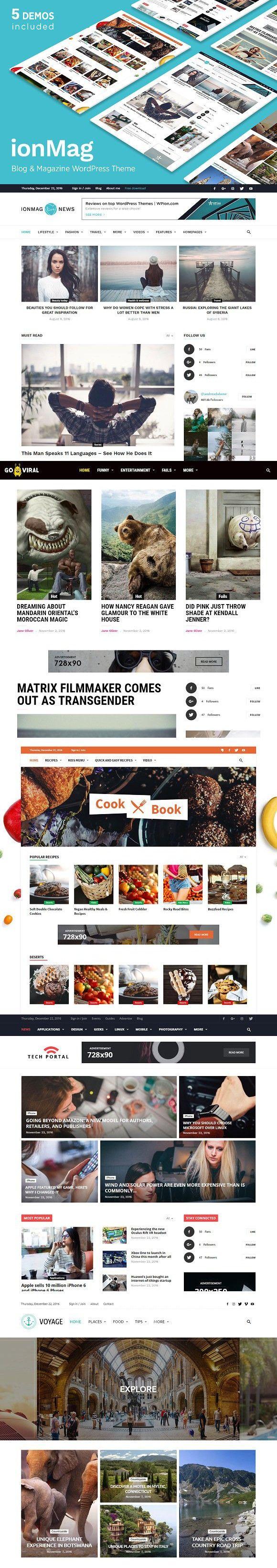 News Magazine Blog theme - ionMag. WordPress Magazine Themes