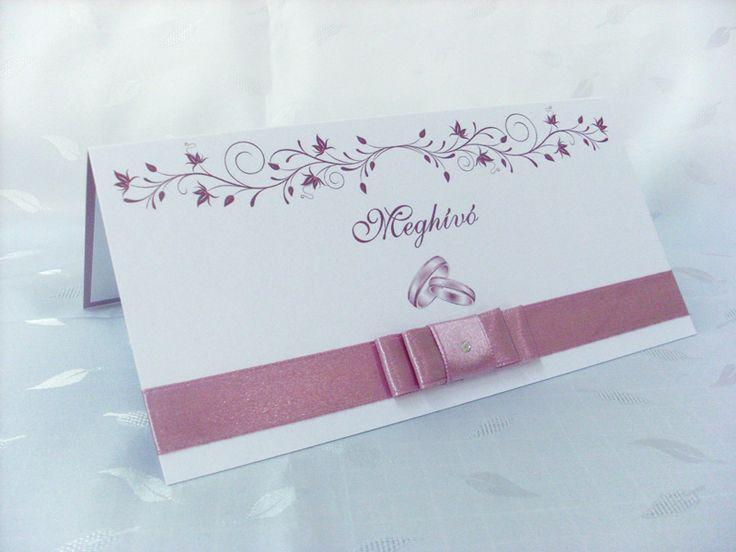 szalagos esküvői meghívó 044.01