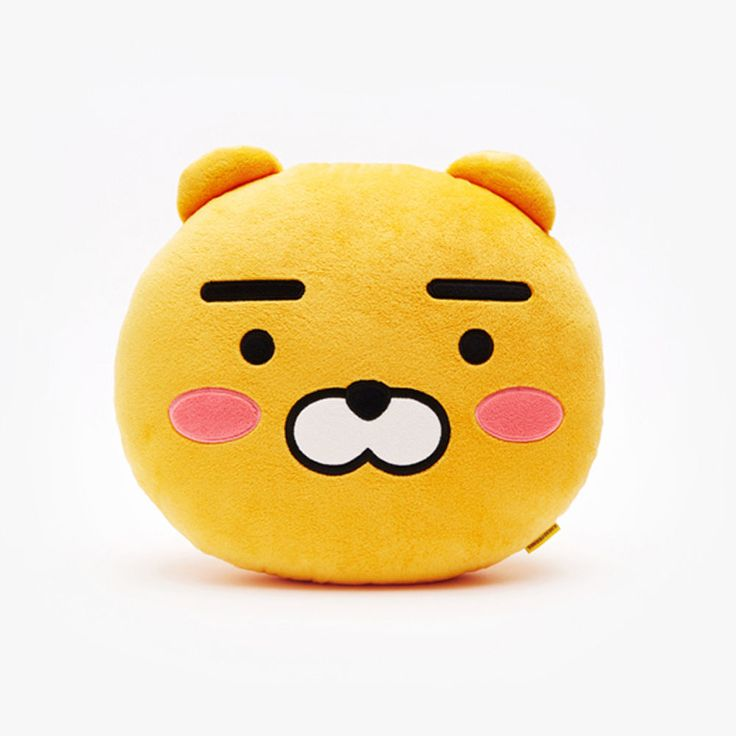 Korea Kakao Talk Friends Face Cushion Pillow Ver2 Shy Ryan #KakaoFriends